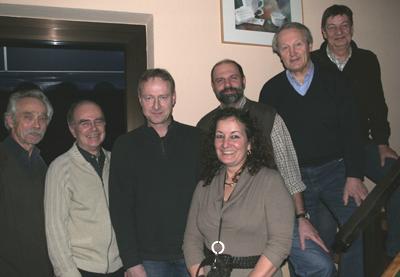von links: Eugen Schünemann, Karl-Peter Engemann, Peter Fels, Ursula Neeff, Dirk Monsieur, Hartmut Ritterskamp und Richard Zirschke.